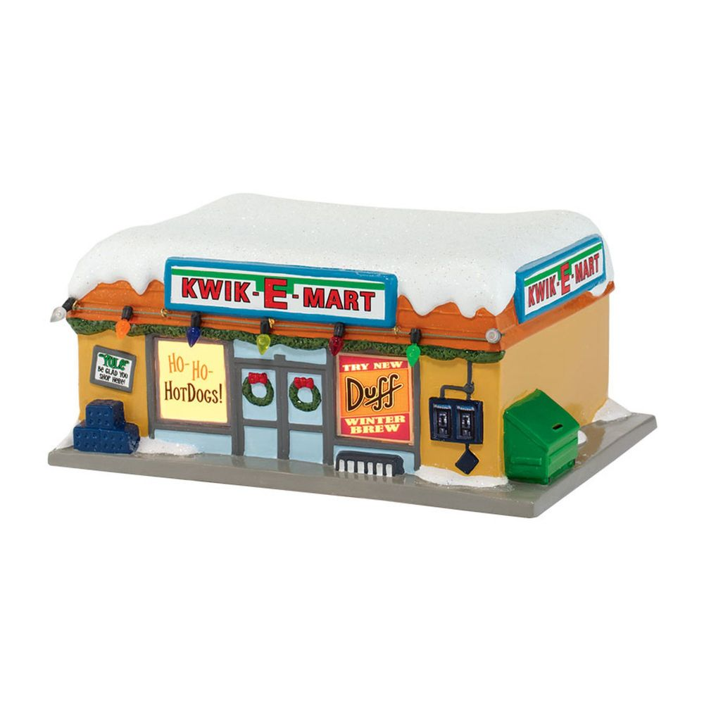 Department 56 Simpsons Village Kwik-E-Mart Lit Christmas Village Building 4032427